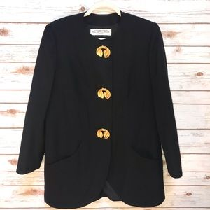 Balenciaga Black Jacket with gold accents